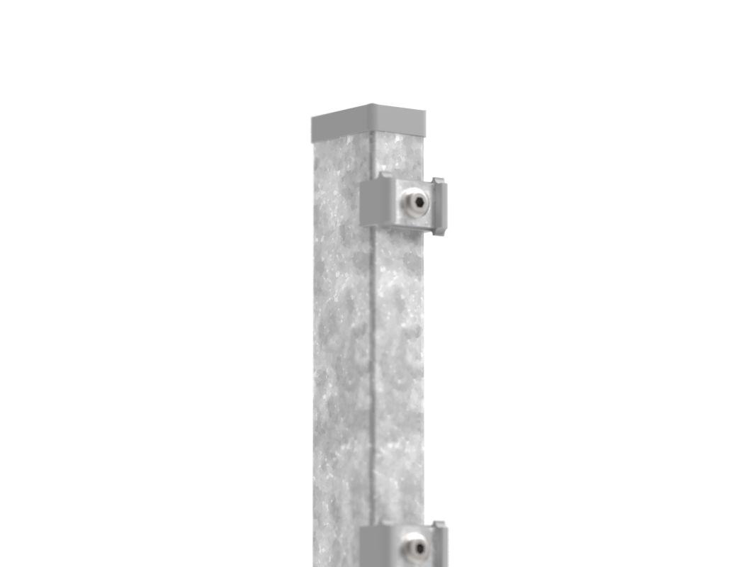 zaunpfosten mit klemmen feuerverzinkte ausf hrung mm zum a. Black Bedroom Furniture Sets. Home Design Ideas