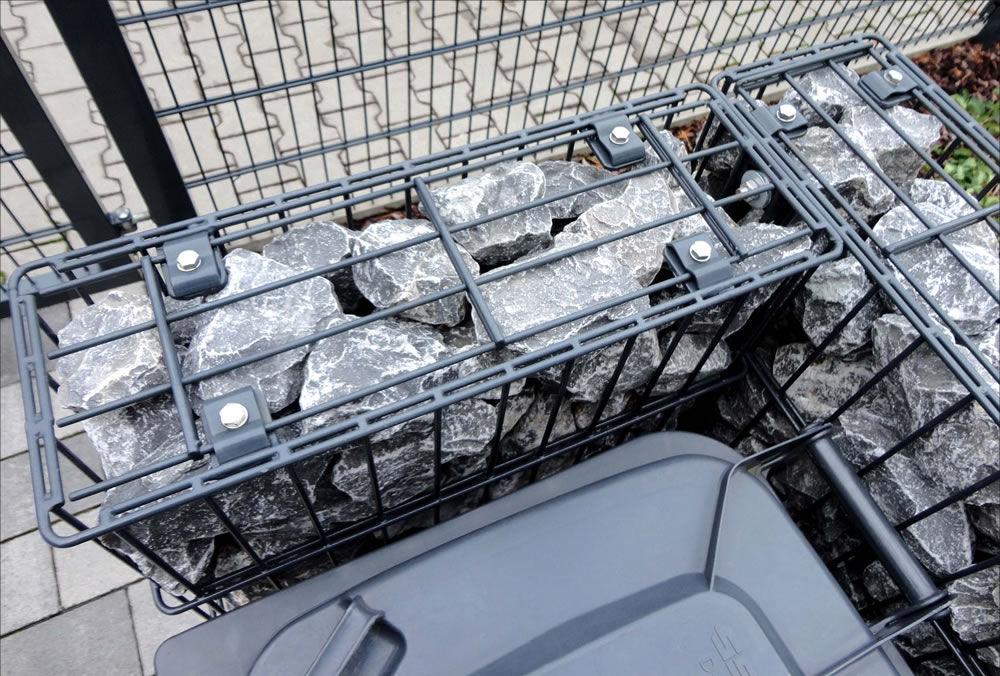 gabionen m lltonnenbox f r bis zu 4 m lltonnen. Black Bedroom Furniture Sets. Home Design Ideas
