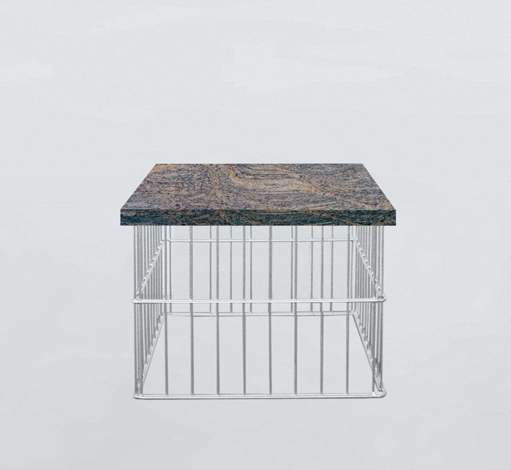 gabionen w rfel cube holz oder granitauflage. Black Bedroom Furniture Sets. Home Design Ideas
