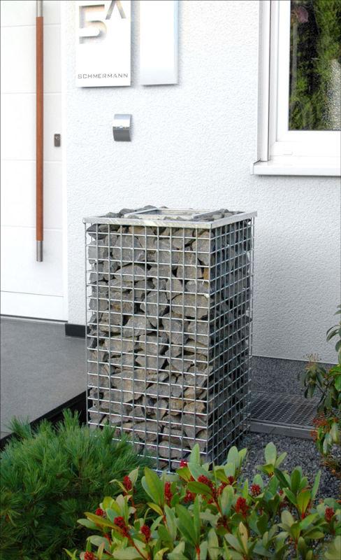 gabionen aschenbecher 50x50cm. Black Bedroom Furniture Sets. Home Design Ideas
