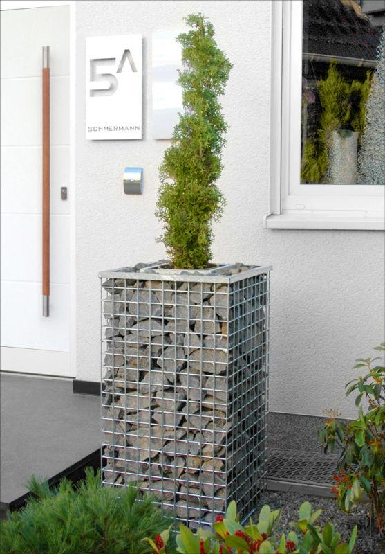 gabione zum bepflanzen sola integrierter topfeinsatz. Black Bedroom Furniture Sets. Home Design Ideas