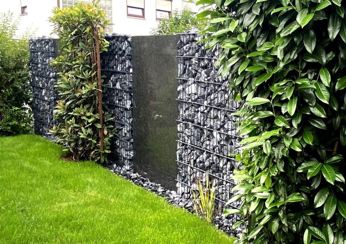 edle granit zwischenelemente f r gabionen gabionenzaun. Black Bedroom Furniture Sets. Home Design Ideas